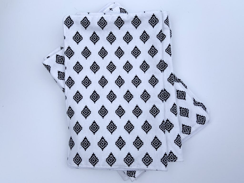 Reusable Paper Towels in black and white print