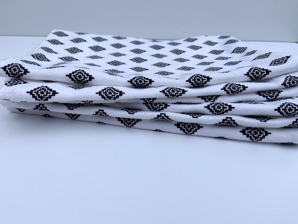 Unpaper Towels in black and white print