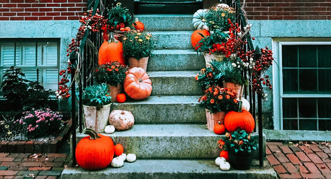 How to Have a Zero Waste Halloween: Decorate with pumpkins and autumn natural elements
