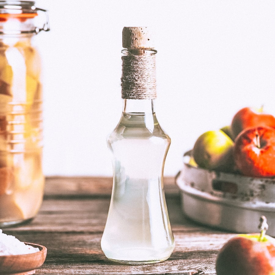White vinegar makes a safe cleaning ingredient